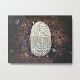Spiritual symbol. Tree of Life. Metal Print