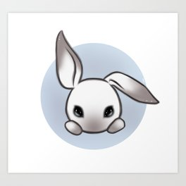Cute Bunny Art Print