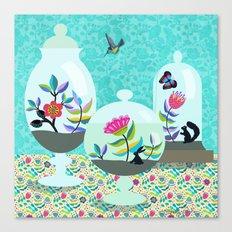 Tiny World Terrariums Canvas Print