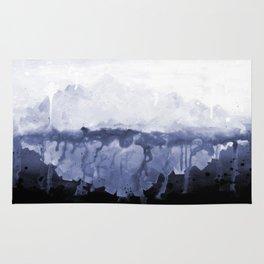 Paint 5 abstract water ocean arctic iceberg nature ocean sea abstract art drip waterfall minimal  Rug