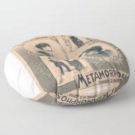 Houdini, Metamorphosis, vintage poster Floor Pillow