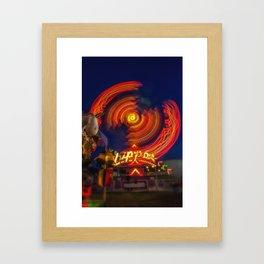 Zipper Ride Framed Art Print