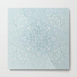 Metallic Ice Metal Print