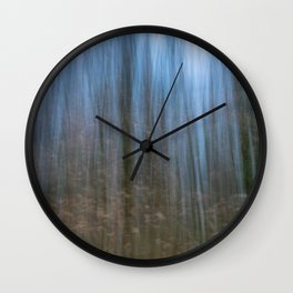 Abstract forest, intentional camera movement Wall Clock