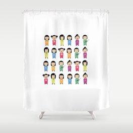 kokeshi dolls Shower Curtain