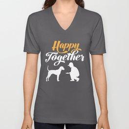 Happy Together - Plott Hound Unisex V-Neck