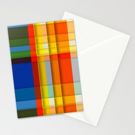rectangle layers Stationery Cards