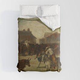 """Francisco Goya """"Corrida de toros en un pueblo"""" Comforters"""