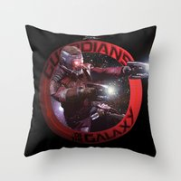 guardians of the galaxy Throw Pillows featuring StarLord - Guardians of the Galaxy by Leamartes