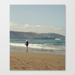 Me & Beach Canvas Print