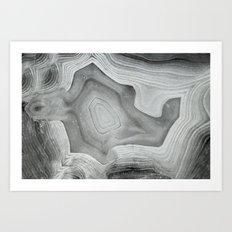 MINERAL MONOCHROME Art Print