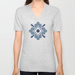 Floral pattern Unisex V-Neck