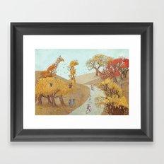 The Night Gardener - Fall Park Framed Art Print
