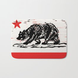 bear flag Bath Mat