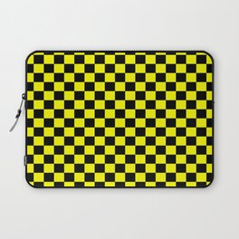Yellow Black Checker Boxes Design Laptop Sleeve