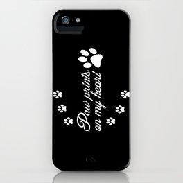 Paw Prints Animal Lover iPhone Case