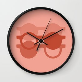 the glasses Wall Clock