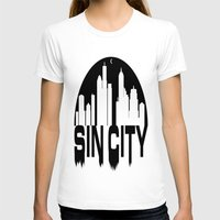 sin city T-shirts featuring SIN CITY  by Robleedesigns