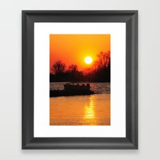 Silhouettes and Fire Framed Art Print