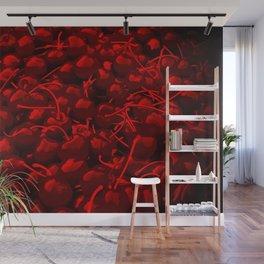 cherries pattern reacdr Wall Mural