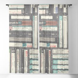 Cassettes Sheer Curtain