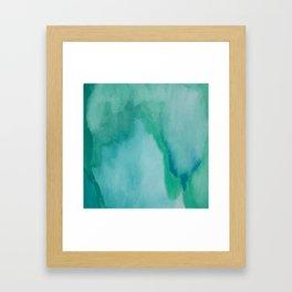 Shades of Green Watercolor Framed Art Print