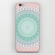 Dusky Pink Green Mandala iPhone & iPod Skin