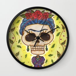 Frida Day of the Dead Wall Clock
