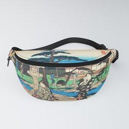 12,000pixel-500dpi - Utagawa Hiroshige - Edo Komeikaiteizukushi - Mukojima, Daishichi Fanny Pack