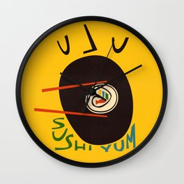 Yum Sushi Wall Clock