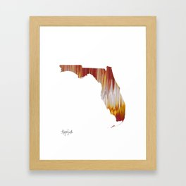 Florida State Framed Art Print