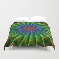 fractal Duvet Covers featuring Fractal by David Zydd
