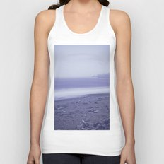 Blue Ocean Waves - Sea Beach Dawn in Oregon Unisex Tank Top