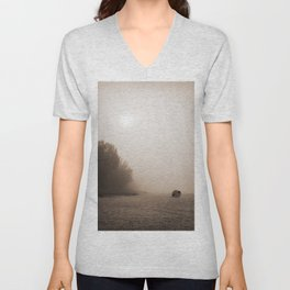 Alone at the beach Unisex V-Neck