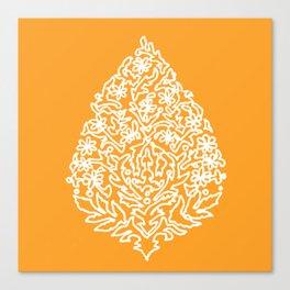 Moroccan Paisley in Autumn Orange Canvas Print