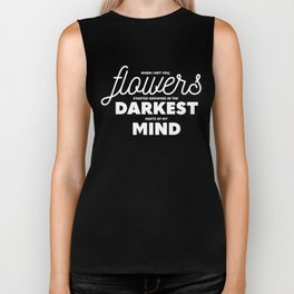 Flowers In My Mind Biker Tank