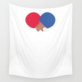 table tennis bat and ball Wall Tapestry