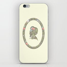 floral silhouette iPhone Skin