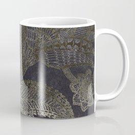 Silver flower doodle mandala florals Coffee Mug