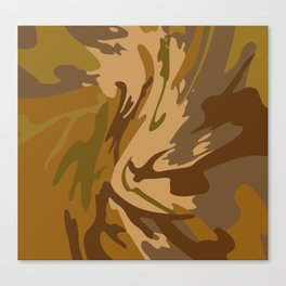 Pattern army style Canvas Print