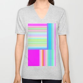 Re-Created  Parquet 7 by Robert S. Lee Unisex V-Neck