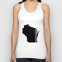 wisconsin Tank Tops featuring Wisconsin by Isabel Moreno-Garcia