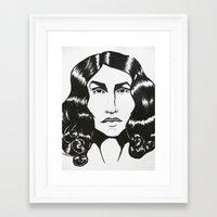 ezra koenig Framed Art Prints featuring Ezra Miller by ChristinneC
