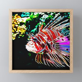 lionfish vector art Framed Mini Art Print