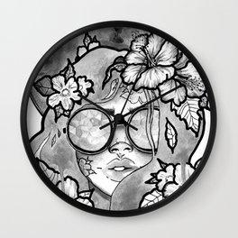 Kaleidoscope Eyes B&W Wall Clock