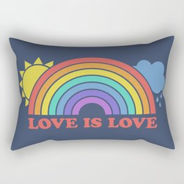 Love is Love Rainbow Design Rectangular Pillow