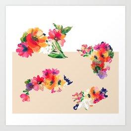 Flower Cut Outs Art Print