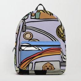 Golden Retriever Beach Backpack