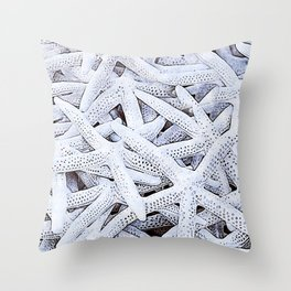 Starfish Serenade - Graphic Design  Throw Pillow