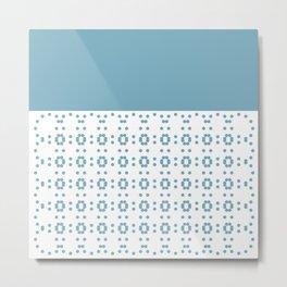 Blueish and Flowerish Metal Print